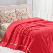 Постельное белье с покрывалом Soft Pike Takimi Mercan
