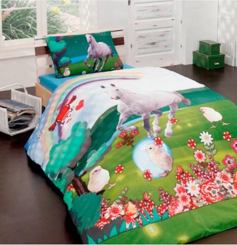 Детское постельное белье Misty green