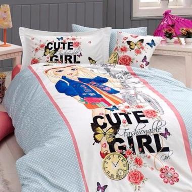 Подростковое постельное белье ранфорс Cute Girl