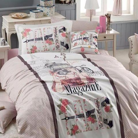 Подростковое постельное белье ранфорс Magazine