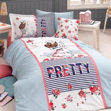 Подростковое постельное белье ранфорс Pretty