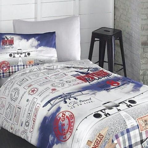 Подростковое постельное белье ранфорс Adventure