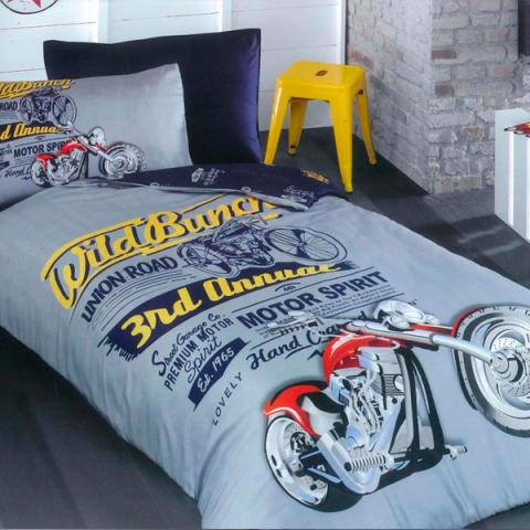 Подростковое постельное белье ранфорс Biker