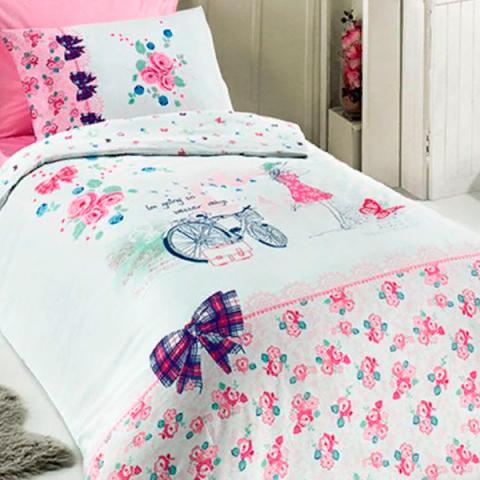 Подростковое постельное белье ранфорс Clara