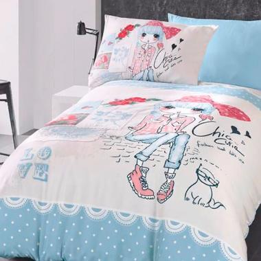 Подростковое постельное белье ранфорс Clarice