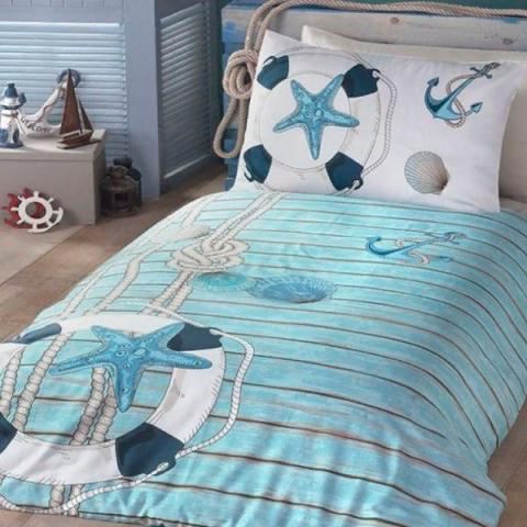 Подростковое постельное белье ранфорс Sea