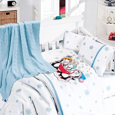 Детское постельное белье с пледом Nirvana Punguins