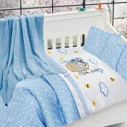 Детское постельное белье с пледом Nirvana Kitty mavi