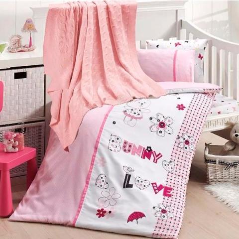 Детское постельное белье с пледом Nirvana Love bunny