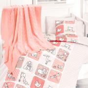 Детское постельное белье с пледом Nirvana Luci pudra