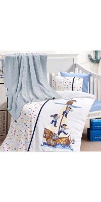 Детское постельное белье с пледом Nirvana Sailors