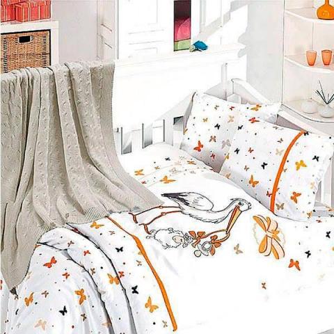 Детское постельное белье с пледом Nirvana Stork