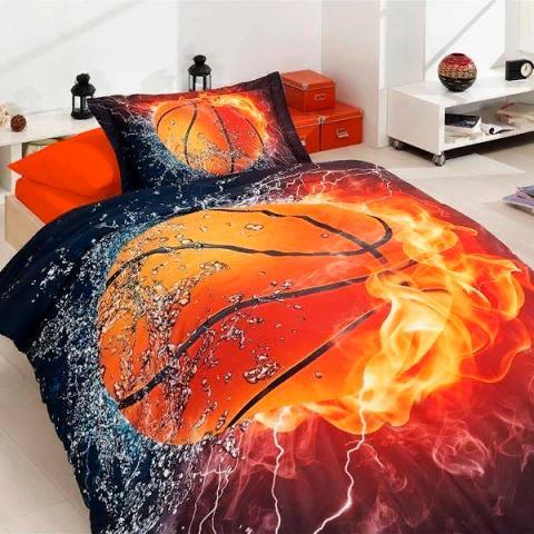 Подростковое постельное белье First Choice 3D сатин Basketball