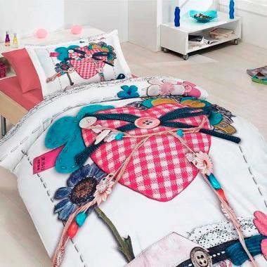 Подростковое постельное белье First Choice 3D сатин Lovable