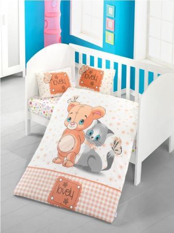Детское постельное белье Bear and cat