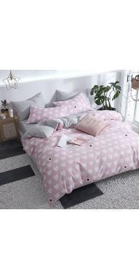 Berni Комплект постельного белья Белые сердечки