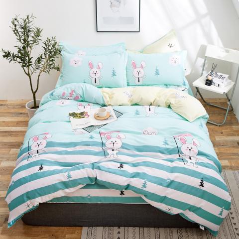 Berni Комплект постельного белья Белый зайчик