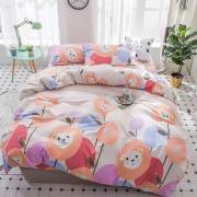 Berni Комплект постельного белья Львенок и цветы