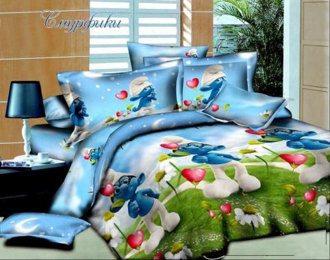 Детское постельное белье Смурфики 2