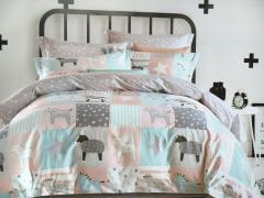 Детское постельное белье Звездные лошадки