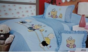 Детское постельное белье Апликация с мишками