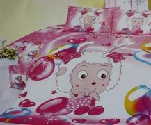 Детское постельное белье Барашек розовый