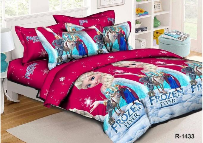 Детское постельное белье Холодное сердце (розовый)