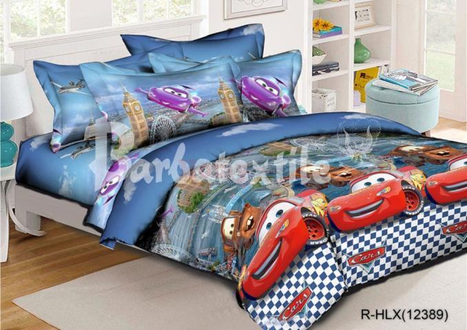 Детское постельное белье Тачки Маквин 3 (голубой)