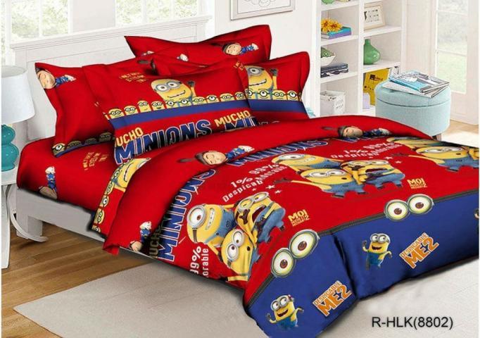 Детское постельное белье Миньоны 4 (красные)