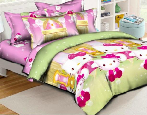 Детское постельное белье Домик Китти