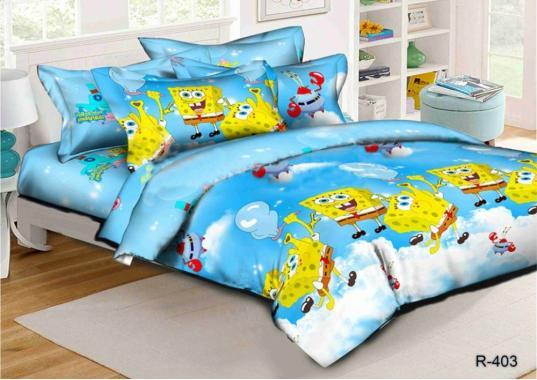 Детское постельное белье для новорожденных Губка Боб