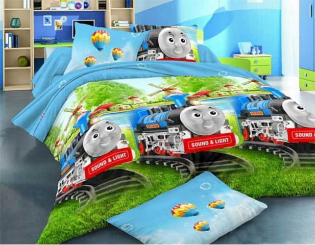 Детское постельное для новорожденных Паровозик Томас