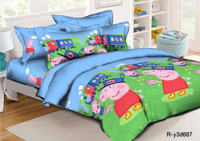 Детское постельное белье Пепа и Джордж