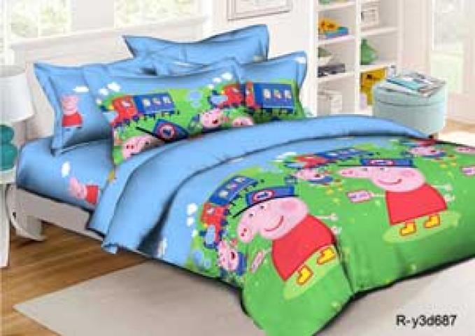 Детское постельное белье Пеппа путешественница
