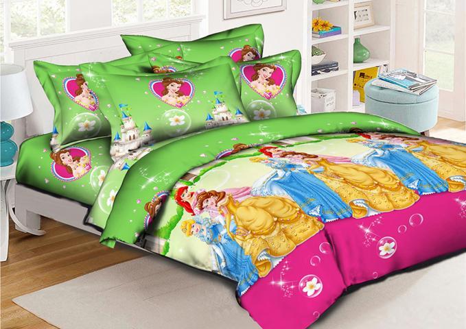 Детское постельное белье Принцессы на балу