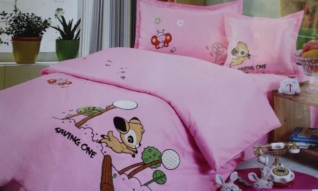 Детское постельное белье Олененок (розовое)