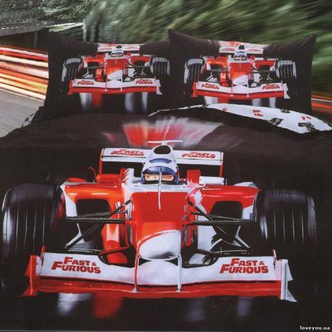 Детское постельное белье Формула 1