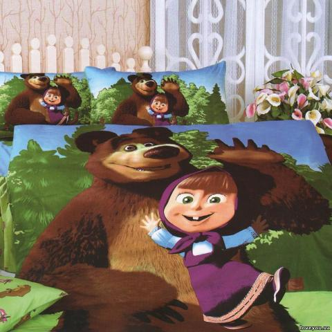 Детское постельное белье Маша и Медведь