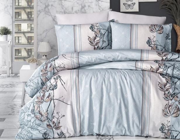 Постельное белье ранфорс Евро First Choice De Luxe Arnica Mint цветной 100% хлопок