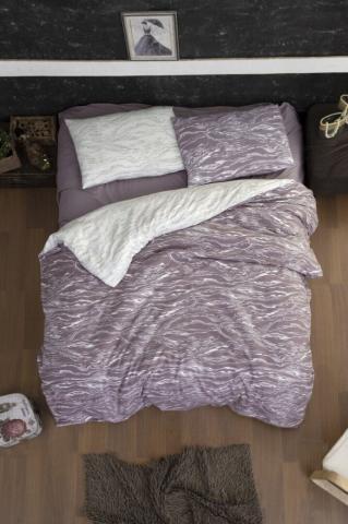 Постельное белье фланель Евро First Choice Larnell lilac 100% хлопок