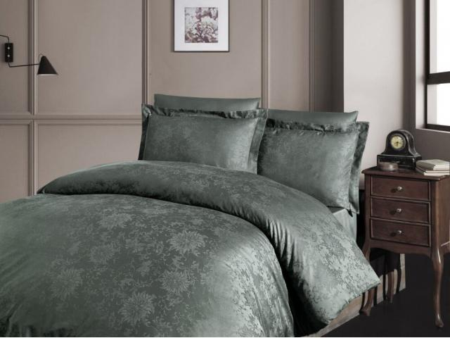 Постельное белье сатин-жаккард Евро First Choice superior tencel GWEN HAKI 100% тенсел