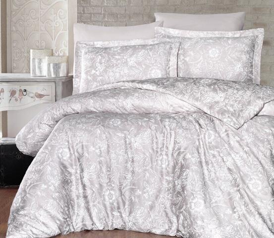 Постельное белье сатин Deluxe Евро First Choice Advina Sampanya 100% хлопок