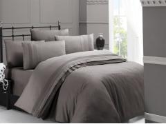Постельное белье сатин Deluxe Евро First Choice Square Style Vizon 100% хлопок