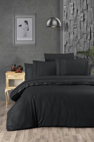 Постельное белье ранфорс Евро First Choice Gala black 100% хлопок