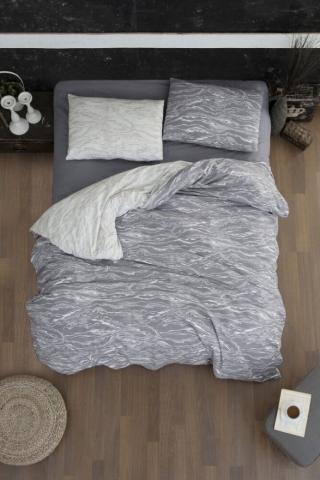 Постельное белье фланель Евро First Choice Larnell grey 100% хлопок