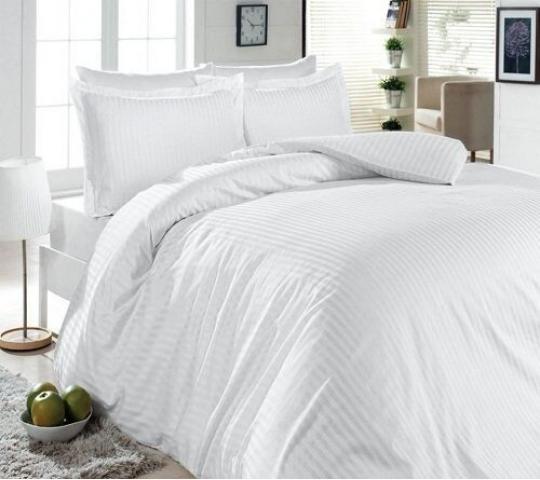 Постельное белье сатин-жаккард Евро First Choice S-053 white 100% хлопок
