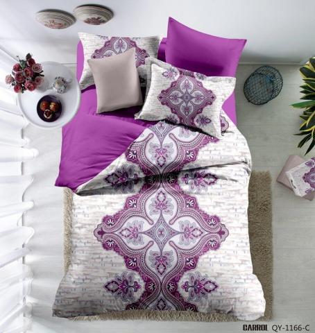 Постельное белье сатин Евро Love You Digital Виолетта 100% хлопок