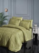 Бамбуковое постельное белье сатин-жаккард Евро First Choice superior bamboo SASHA Z. YESIL 100% бамбук