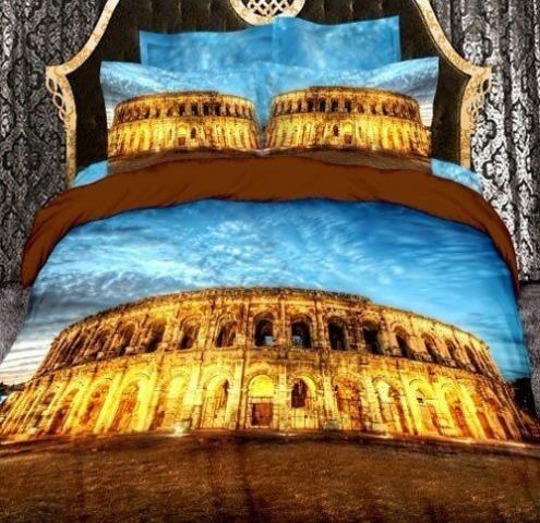 Постельное белье 3D Love You Колизей - евро: хлопок, сатин