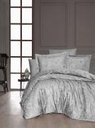 Постельное белье сатин Deluxe Евро First Choice ADVINA GRI 100% хлопок